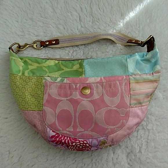 Coach Hobo Patchwork Pastels purse